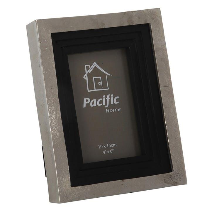 Raw Nickel & Wood Photo Frame - Small