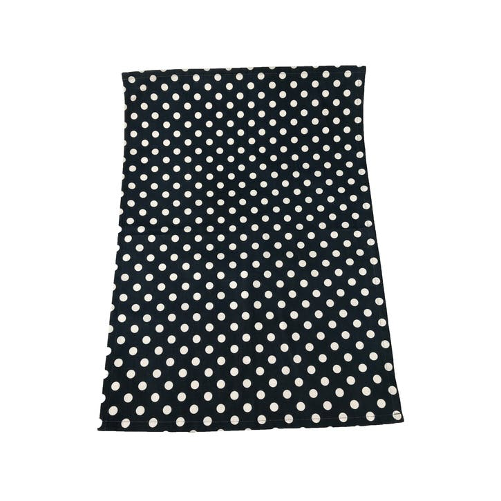 Polka Dot Tea Towel, Indigo