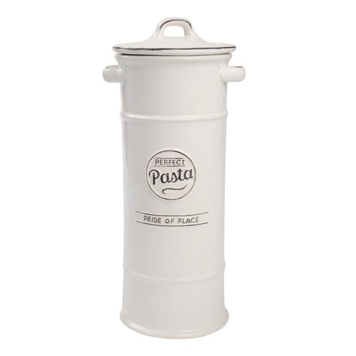 Pride of Place Pasta Jar, White