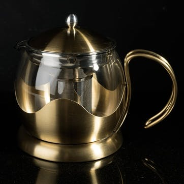 Edited Le Teapot Brushed Gold, 4 Cup