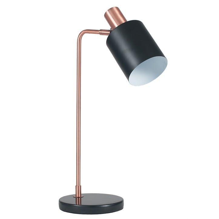 Addison Task Desk Lamp; Black & Antique Copper