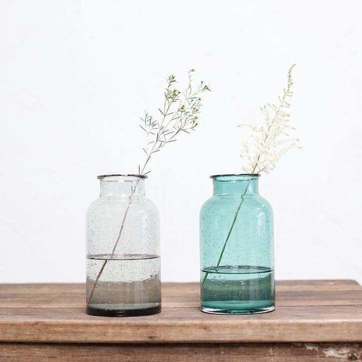 Toska Vase - Medium; Smoke Grey