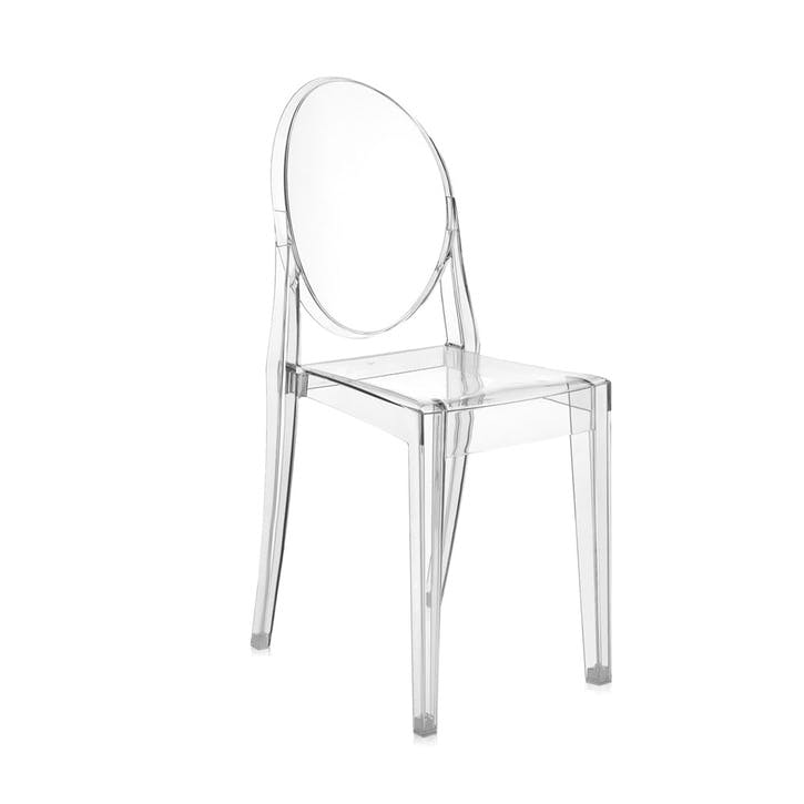 Victoria Ghost, Pair of Dining Chairs, Crystal
