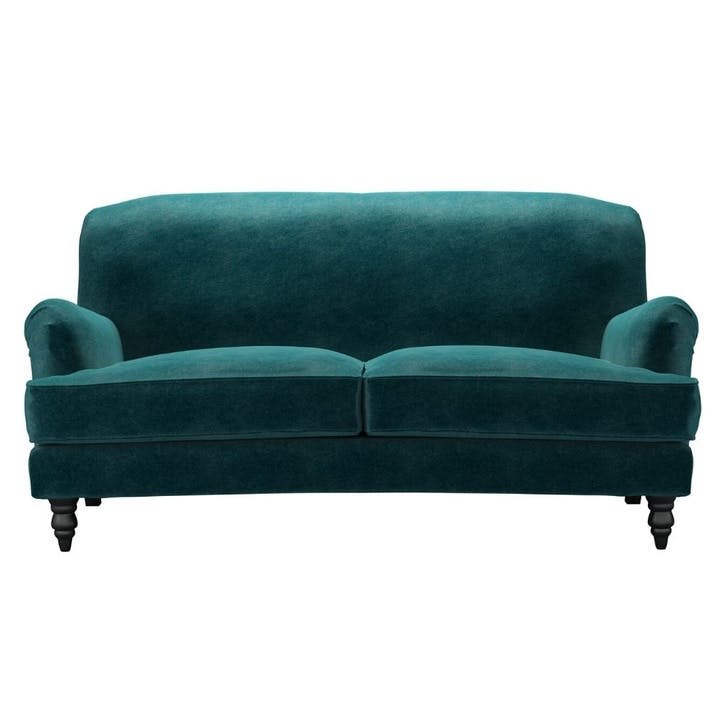 Snowdrop, Two and a Half Seat Sofa, Jade Smart Velvet