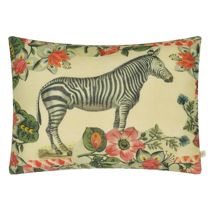 John Derian Zebras Sepia Cushion