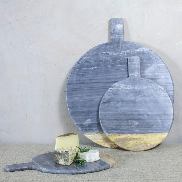 Bwari Round Marble Board - Large; Grey