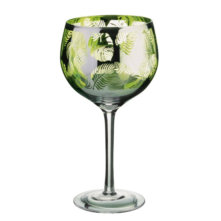 Tropical Leaves Gin Glass