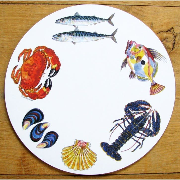 Fish & Shellfish Tablemat - 28cm