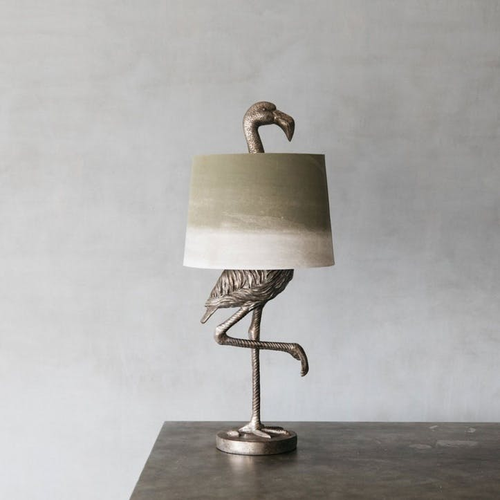 Flamingo Table Lamp, Silver