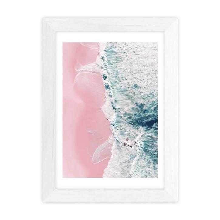 Ingrid Beddoes, Sea of love II, Framed Art Print, H48 x W37 x D2cm, White