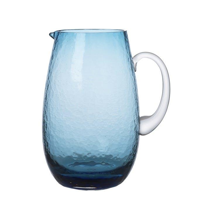 Hammered Jug, Blue