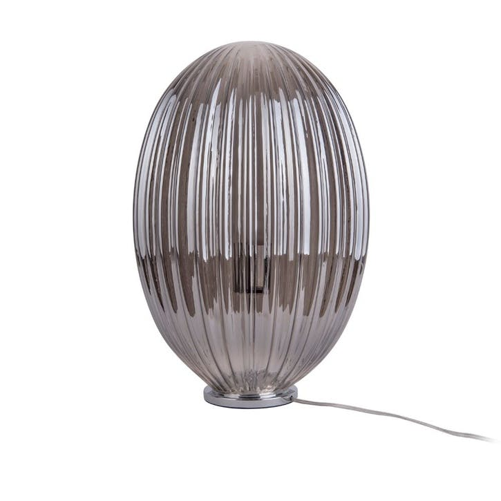 Glass Table Lamp, Smokey Grey
