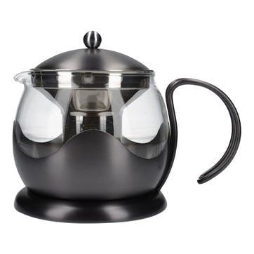 Edited 4 Cup Teapot; Gun Metal Grey