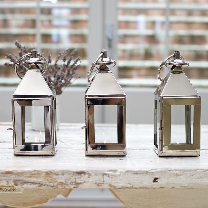 Mini Chudleigh Stainless Steel Candle Lantern