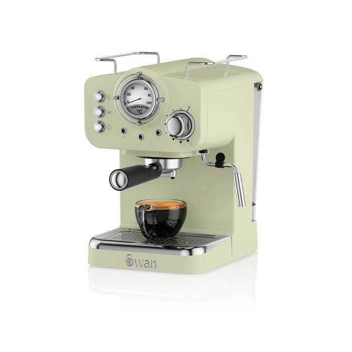 Retro Espresso Machine, Green
