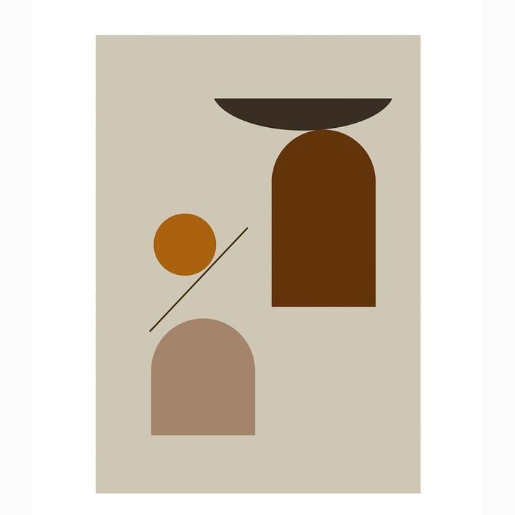 New Form 4 - Riikka Kantinkoski Art Print D50cm x H70 cm