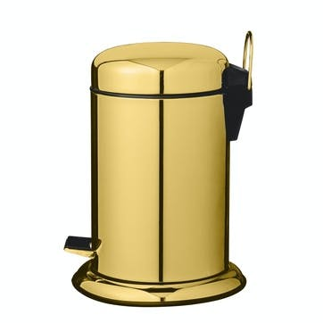 Gold Bathroom Bin