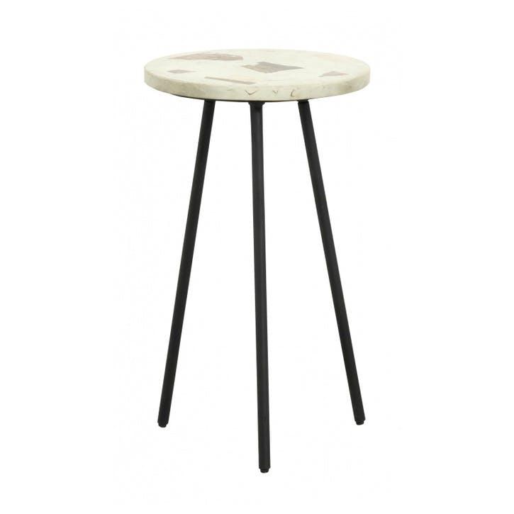Terrazzo Tripod Side Table