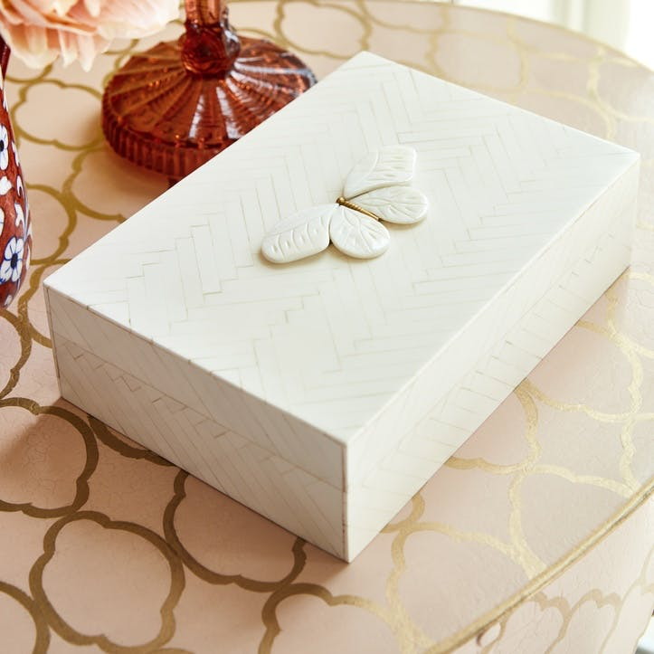 Kasai Herringbone Butterfly Box