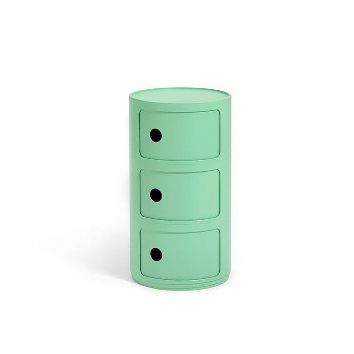 Componibili, 3 Door Cabinet, Green