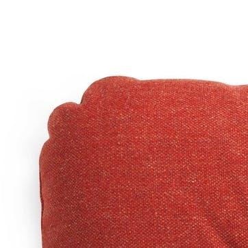 HI Pair of Square Cushions L60 x H50cm Red