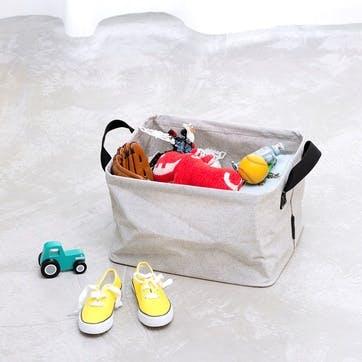 Foldable Laundry Basket, Grey