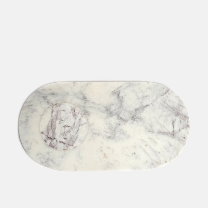Astell, Large Marble Serving Board, White