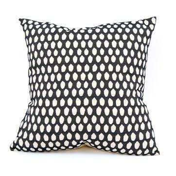 Elca Cushion -  60cm; Linen On Black