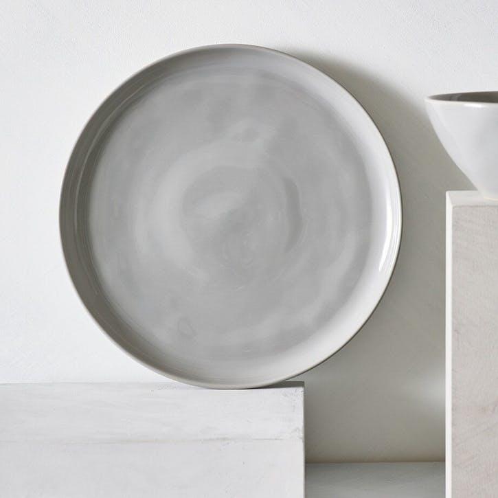 Portobello Dinner Plate, Grey