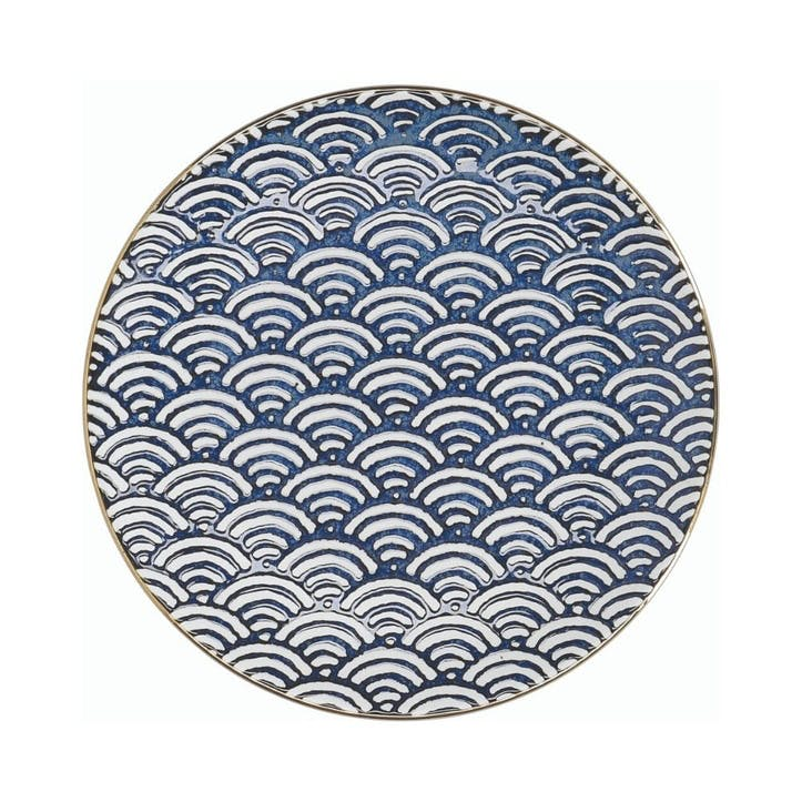 Satori Side Plate, Seigaiha Wave