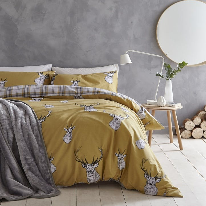 Stag King Bedding Set, Ochre