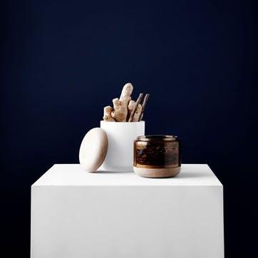 Pi-No-Pi-No, Complete Vase set, H25 x W11cm, Opal White/Bronze/Green