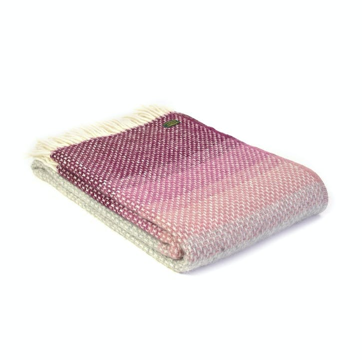 Ombre Throw, Rosewood