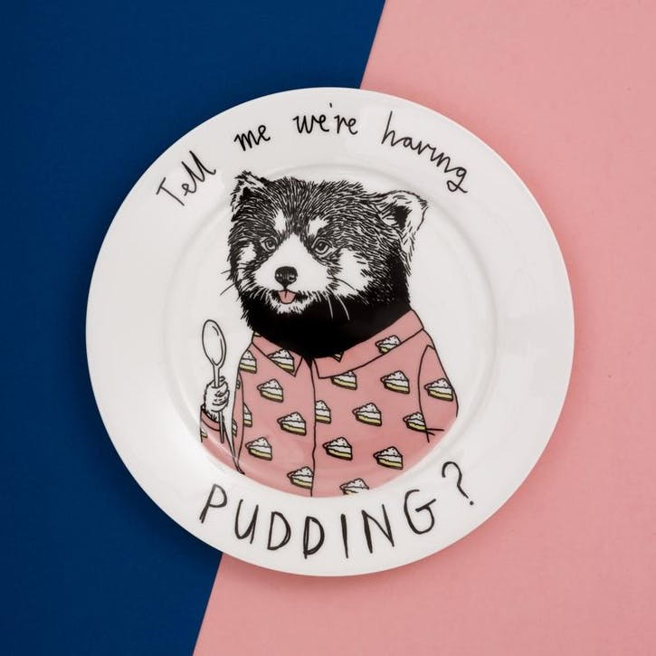 'Tell Me We're Having Pudding?' Side Plate