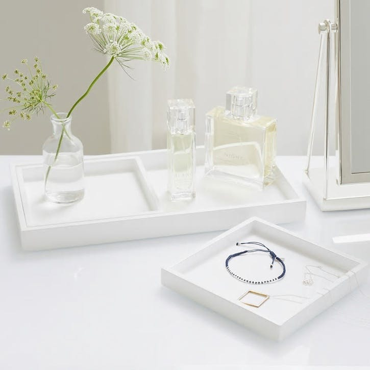 Lacquer Dressing Table Tray, Set of 3
