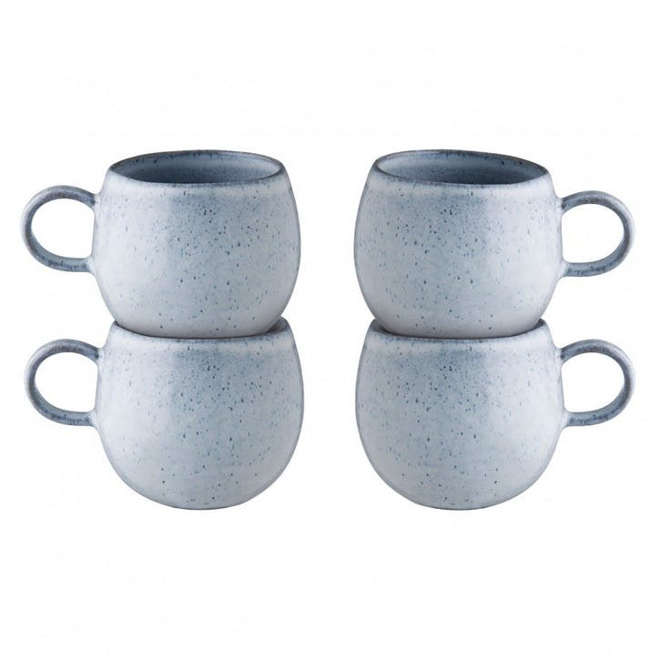 Olmo Mugs, Set of 4, Light Blue
