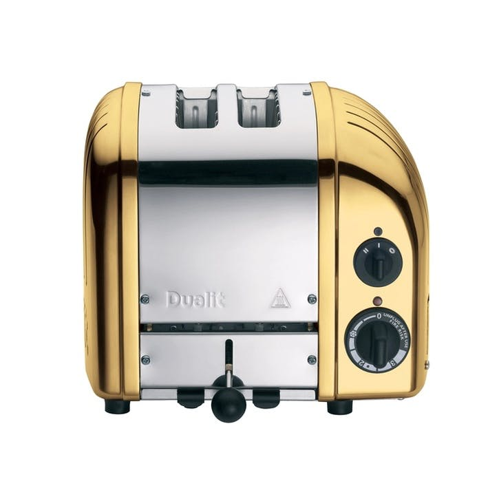 Classic Vario 2 Slot Toaster, Brass