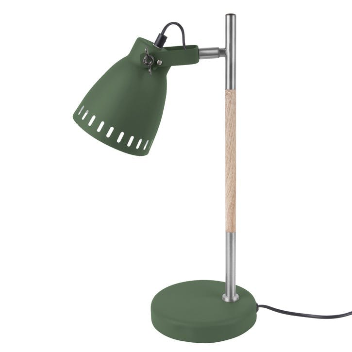 Mingle Wooden Table Lamp, Green