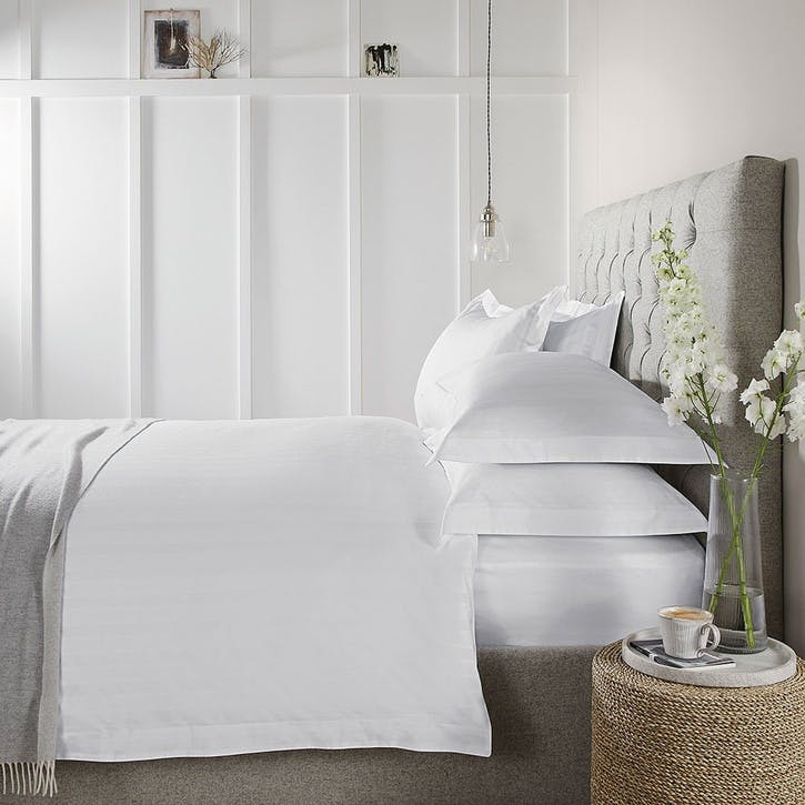 Malmo, King Duvet Cover, White