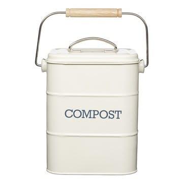 Living Nostalgia Compost Bin in Antique Cream