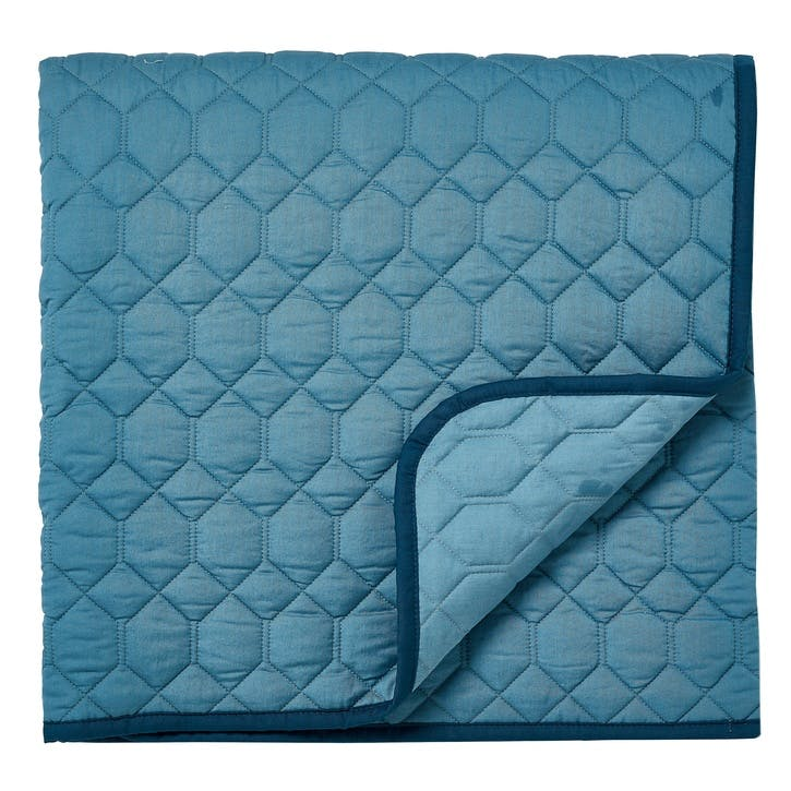 Jackfruit Quilted Throw, Eucalyptus