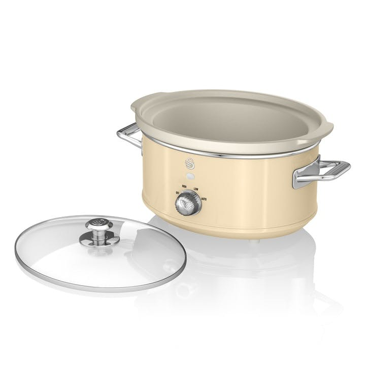 Retro 3.5L Slow Cooker, Cream