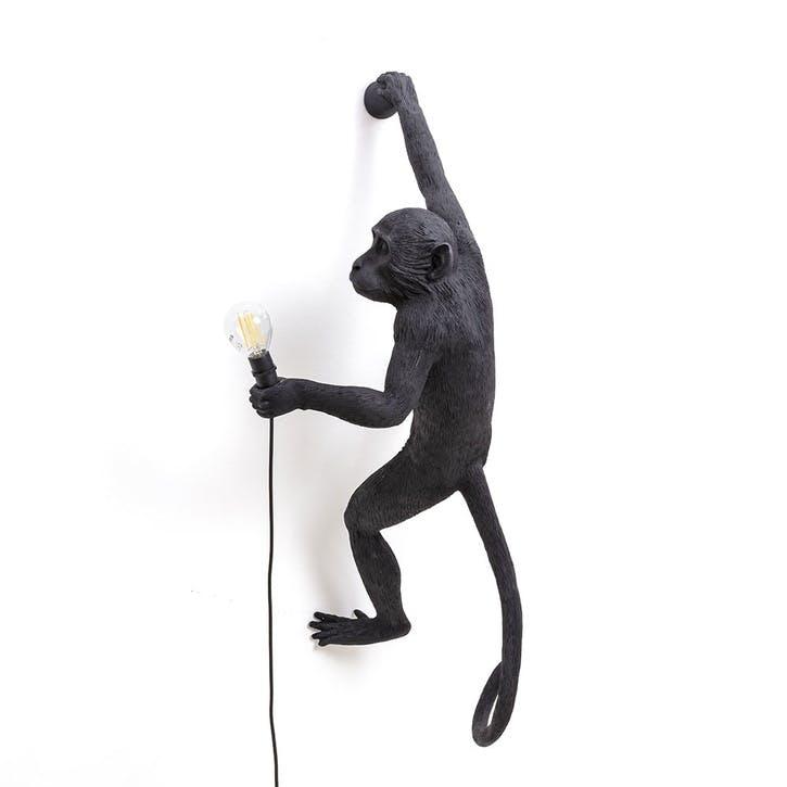 Monkey Lamp, Hanging Right Black