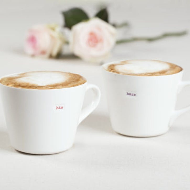 'His & Hers' Set of 2 Bucket Mugs, 350ml