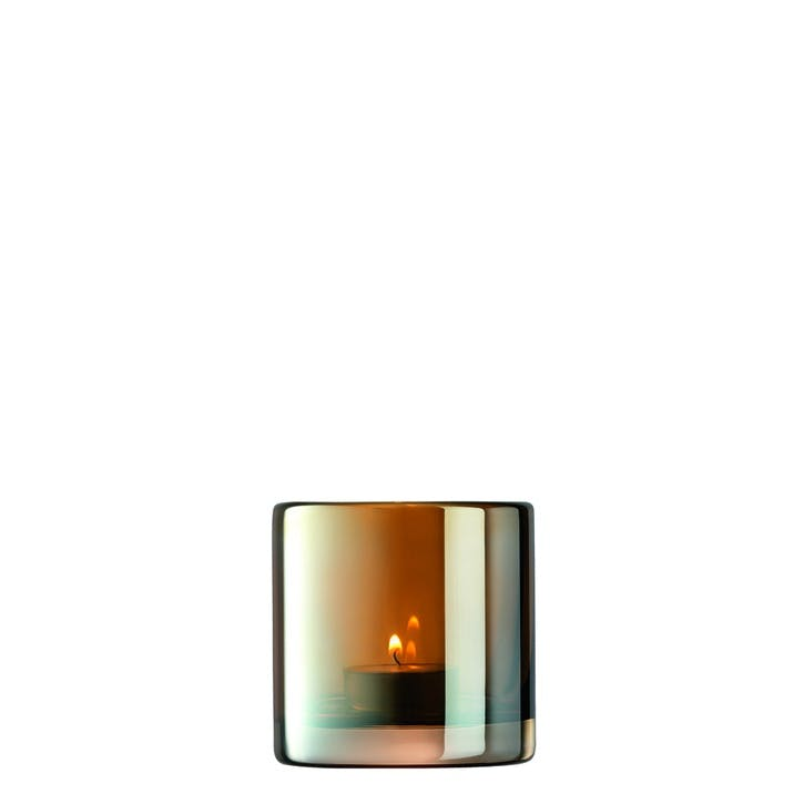 Époque, Tealight Holder, H8.5cm, Amber