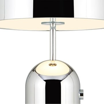 Bell Table Lamp, Large, Chrome