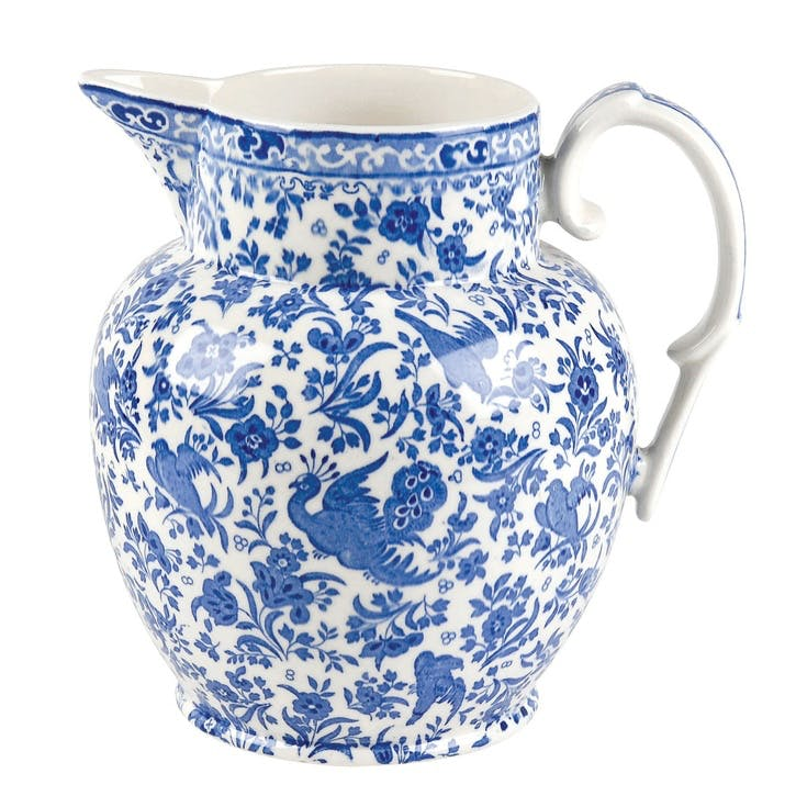 Regal Peacock Large Etruscan Jug, 2.2lt, Blue
