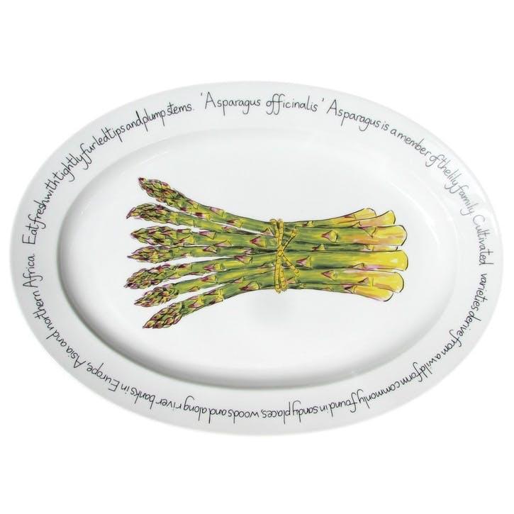Asparagus Oval Plate - 39cm