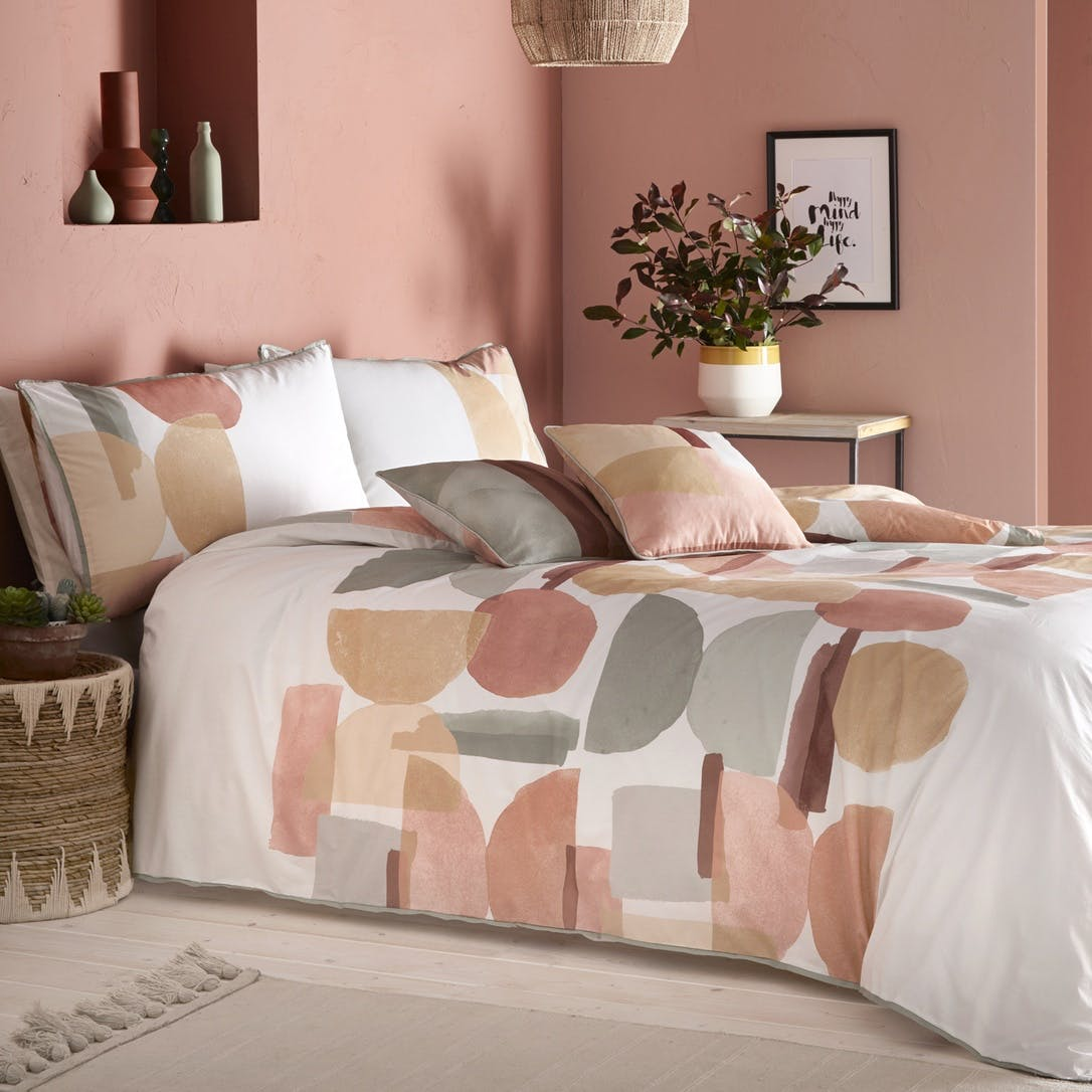 Prezola Effie Bedding Set Super King Coral Beau Living