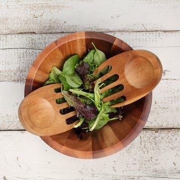 Tuscany Acacia Wood Salad Hands